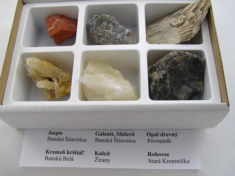 f81ffde9a Minerály: Minerály Slovensko BOX M6